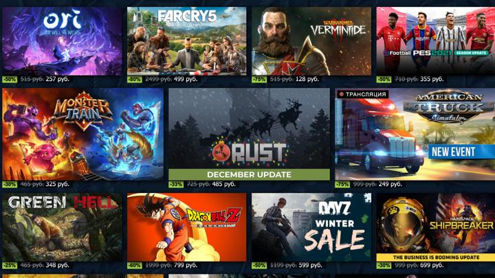 Названы лучшие игры года в Steam