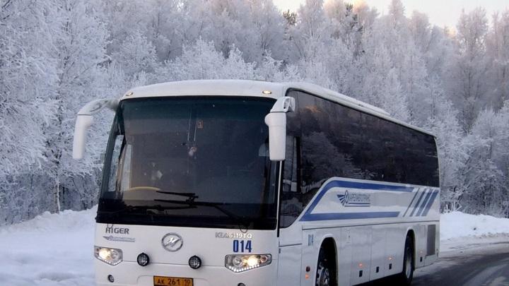 Из-за сильных морозов отменены междугородные автобусные рейсы из Петрозаводска