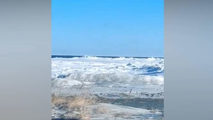 Восемь рыбаков унесло в Охотское море на отколовшейся льдине