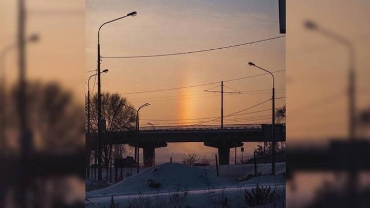 В небе над Воронежем сфотографировали редкую зимнюю радугу