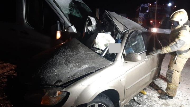 Целая семья погибла в аварии под Оренбургом