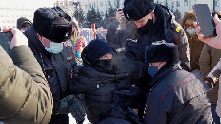 В сибирских городах задержаны несколько десятков человек