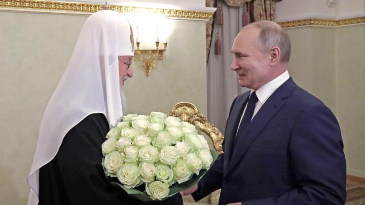 Президент поздравил Патриарха с годовщиной интронизации
