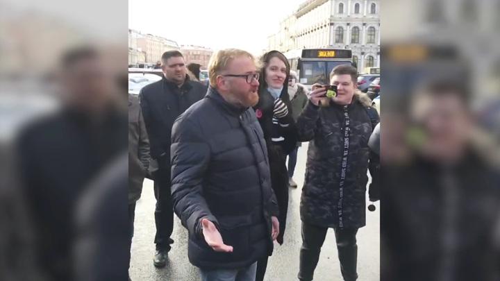 Депутат Виталий Милонов: люди вышли на митинг со своими проблемами