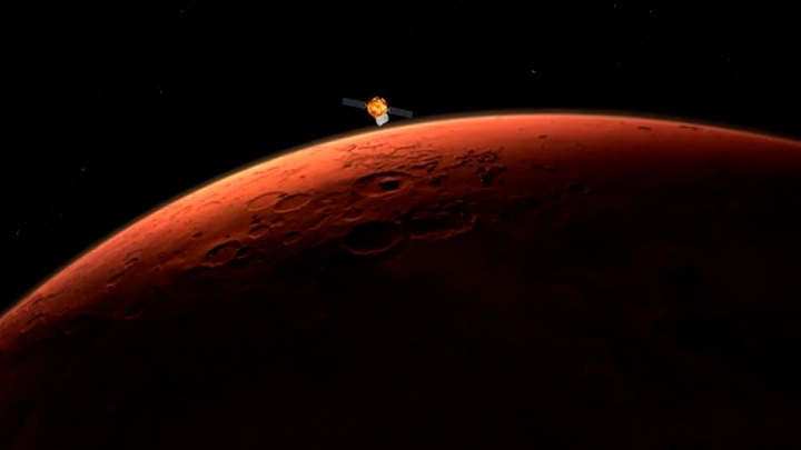 Китайский зонд успешно достиг орбиты Марса