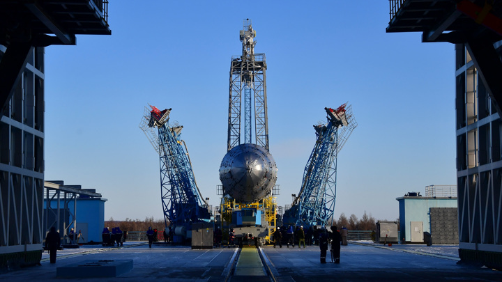 "Ракета ""Союз-2.1б"" со спутником ""Арктика-М"" стартовала с космодрома Байконур"
