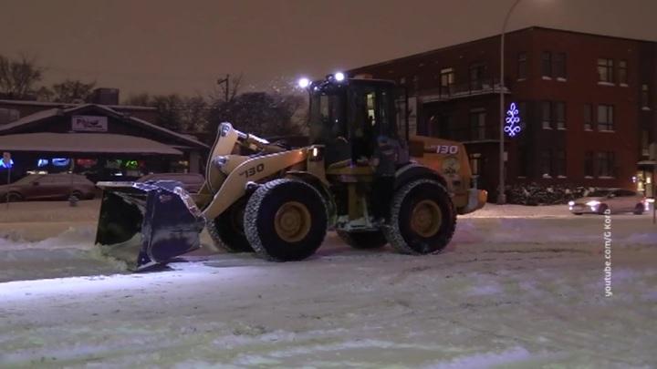 В Канаду пришли экстремальные морозы и снегопады