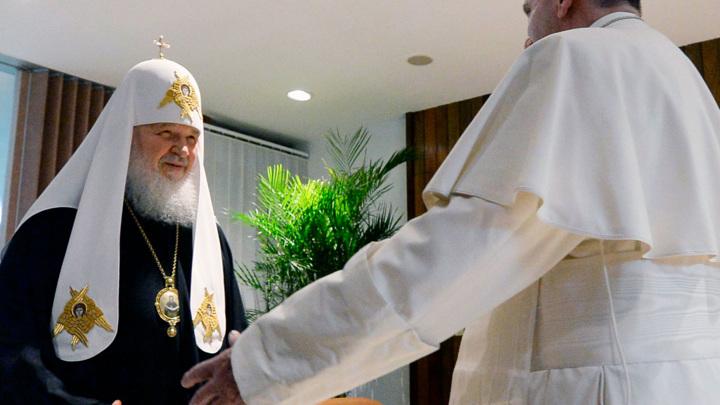 РПЦ оценила результаты встречи Патриарха Кирилла и Папы Франциска