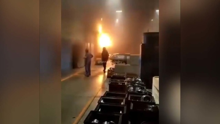 "По факту пожара на заводе ""Татэлектромаш"" возбуждено уголовное дело"