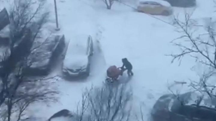 Снежный буран ударил по Камчатке и Курилам
