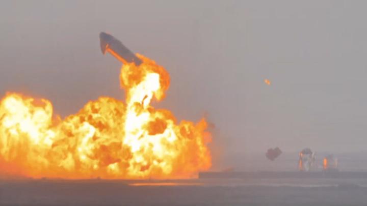 Космический корабль Илона Маска взорвался после посадки