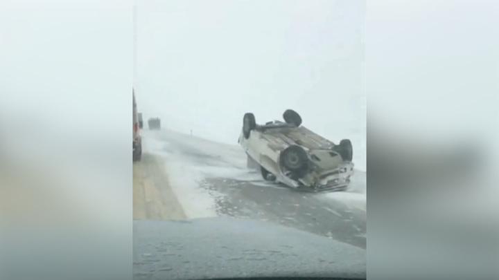 Непогода спровоцировала десятки аварий на Ставрополье