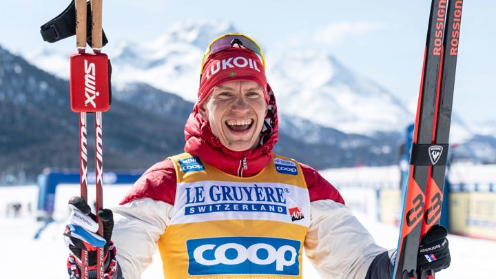 Большунов выиграл гонку Кубка мира без драмы и надрыва