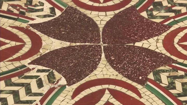 Древнюю мозаику выставили в Итальянском национальном музее