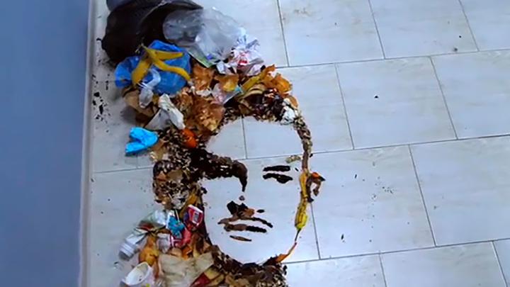 """""""Символично"""": портрет Моргенштерна из отходов"""