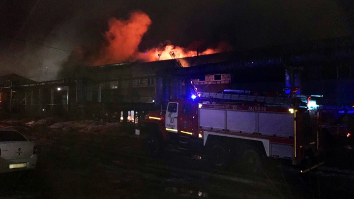 """На заводе """"Магма"""" в Рыбинске произошел крупный пожар"""