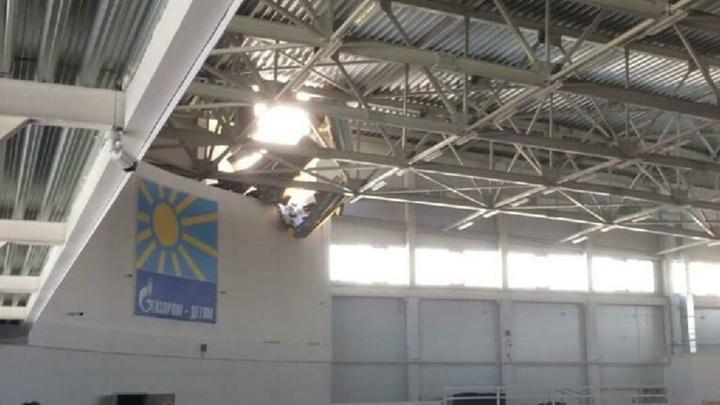 В Кирове частично обвалилась крыша спорткомплекса