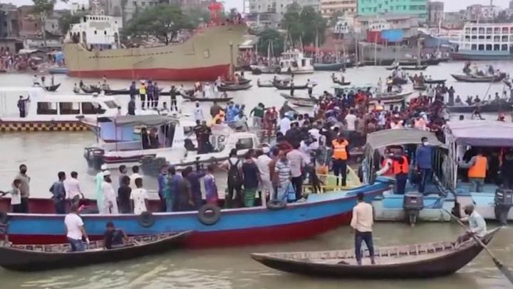 В Бангладеш столкнулись два судна, есть погибшие