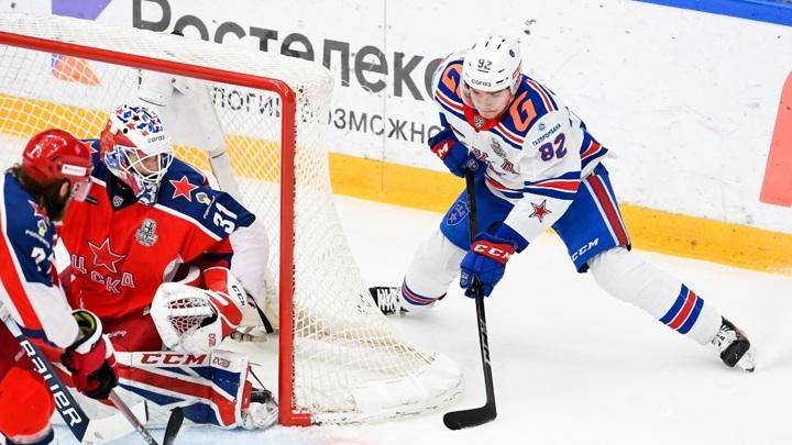 Хоккеисты СКА победили ЦСКА в третьем овертайме