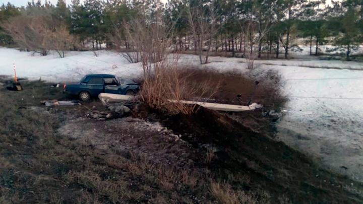 Двух омичей убило током на дороге у Ачаира