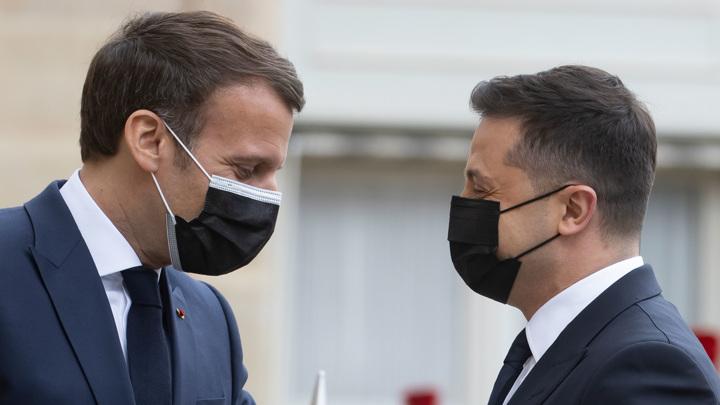 После встречи с Зеленским Макрон заговорил на украинском