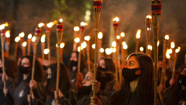 В Ереване прошло факельное шествие в память жертв геноцида армян