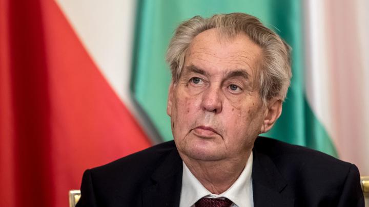 Президент Чехии заявил, что Россия сделала глупость