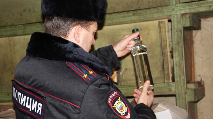В Оренбургской области полиция изъяла три тонны паленого алкоголя