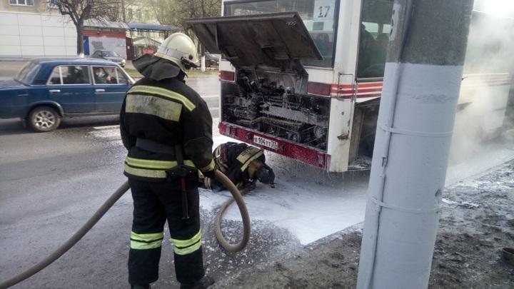 Во Владимире загорелся пассажирский автобус
