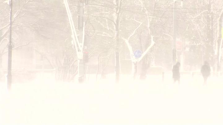На Сахалин вернулась зимняя метель