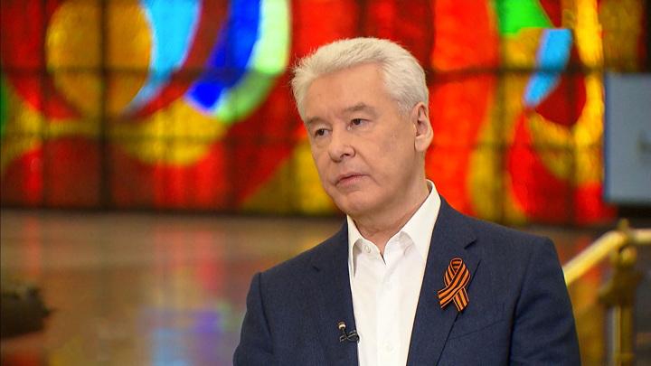 Мэр Москвы Сергей Собянин поздравил жителей столицы с Днем Победы