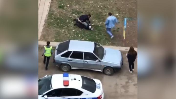 Пьяный оренбуржец с топором распугал двор после проигранной драки