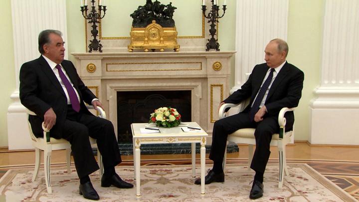 Миграция и модернизация Вооруженных сил: о чем говорили Путин и Рахмон. Вести в 20:00