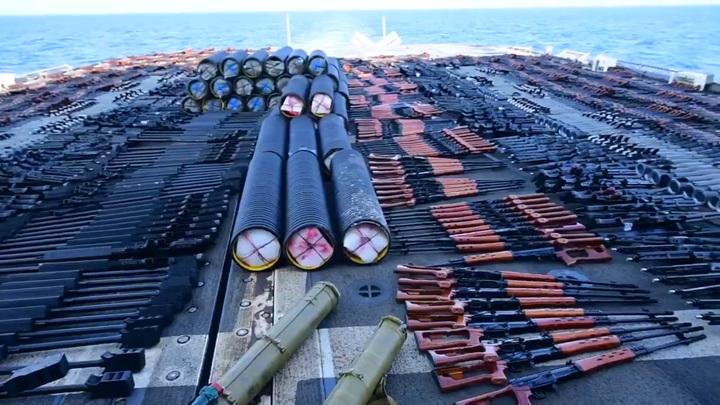 США изъяли в Аравийском море груз с российским и китайским оружием