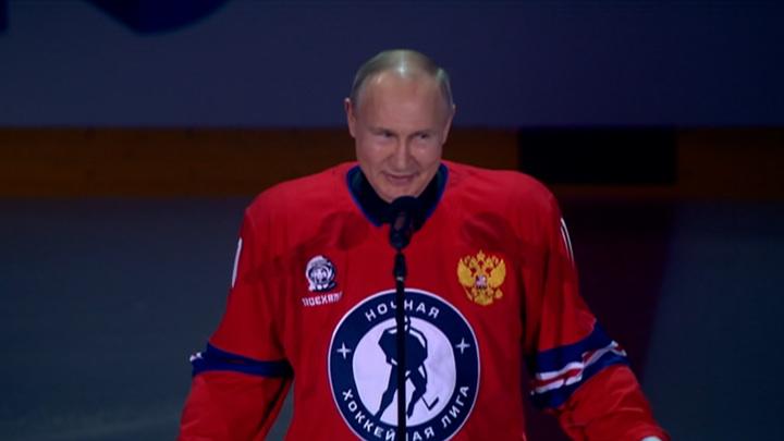 Гала-матч Ночной хоккейной лиги завершился победой команды Путина