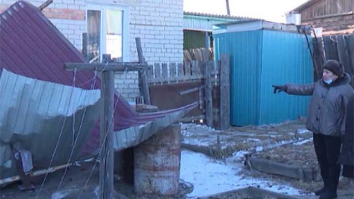 В Забайкалье устраняют последствия ураганного ветра