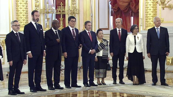 Церемония вручения верительных грамот в Кремле прошла с ограничениями