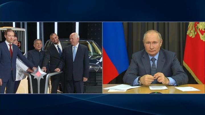 Путин открыл первое производство российских лимузинов Aurus