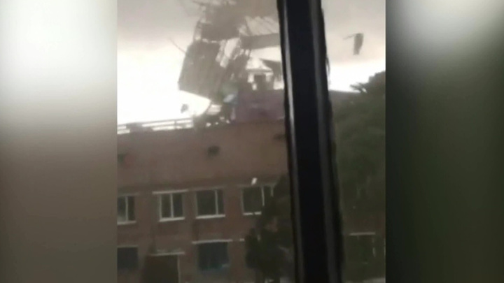 На Шагонар обрушился ураган
