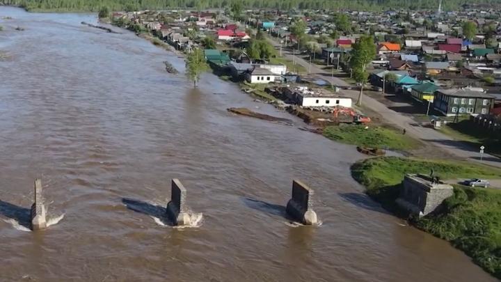 Уровень реки Уды в Нижнеудинске начал снижаться