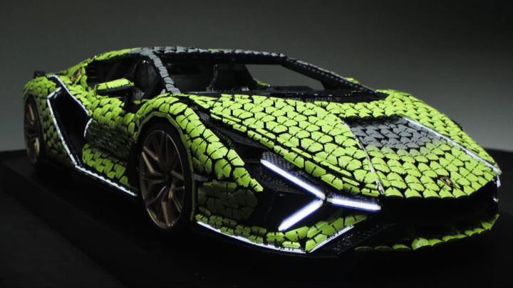 Из Lego собрали полноразмерный гиперкар Lamborghini