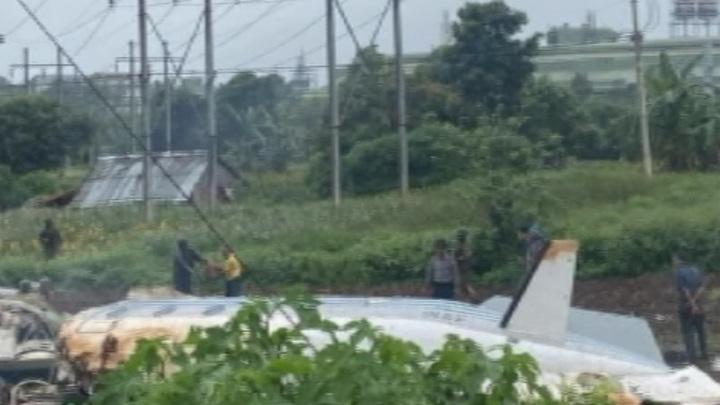В Мьянме разбился самолет ВВС: 12 погибших