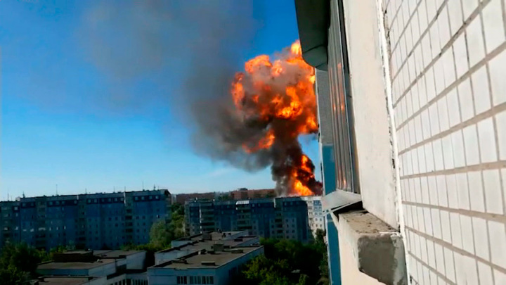Пожар на АЗС в Новосибирске потушили