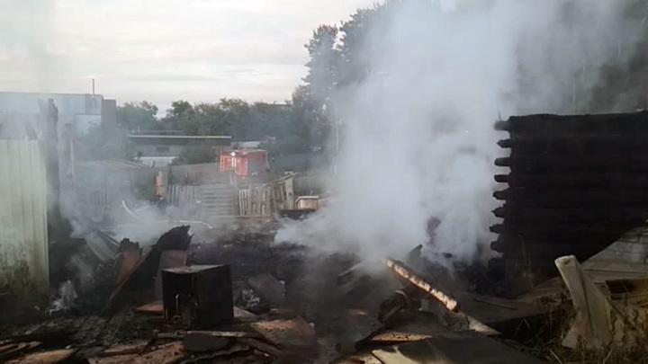 Причиной пожара конюшни в Казани может быть поджог