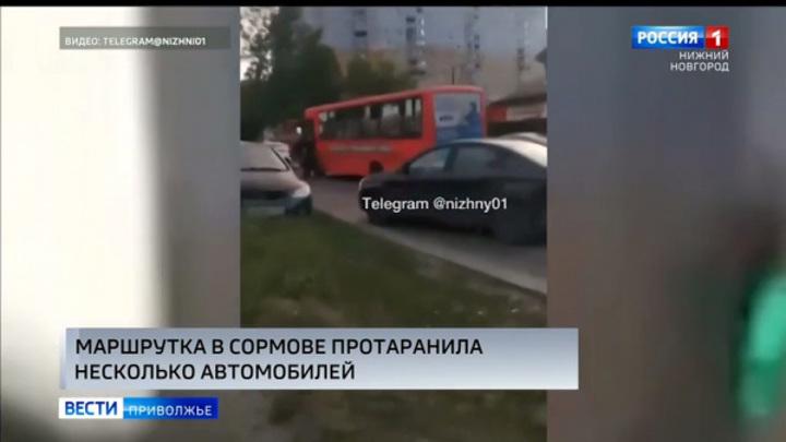У водителя тепловой удар: в Нижнем Новгороде маршрутка устроила массовое ДТП