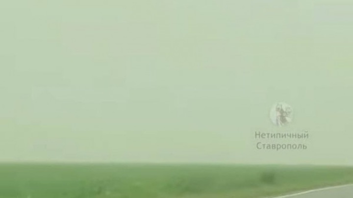 Пыльная буря обрушилась на Ставрополье