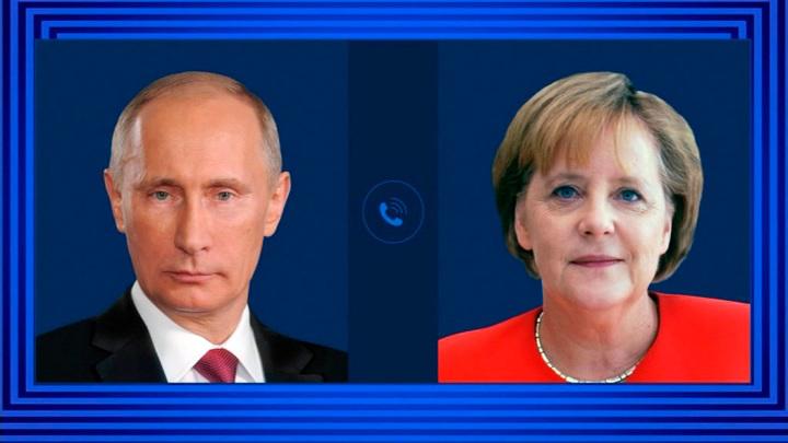 Путин и Меркель подчеркнули важность сохранения памяти о войне