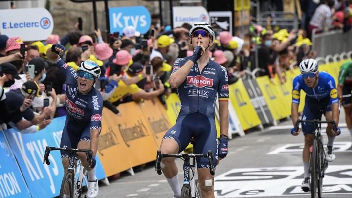 """Бельгиец Мерлир выиграл третий этап """"Тур де Франс"""""""