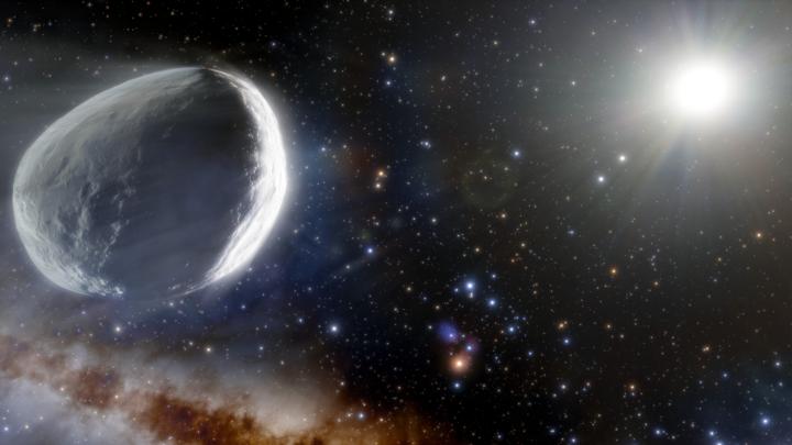 Так может выглядеть комета Бернардинелли-Бернштейна, посетившая внешние части Солнечной системы.