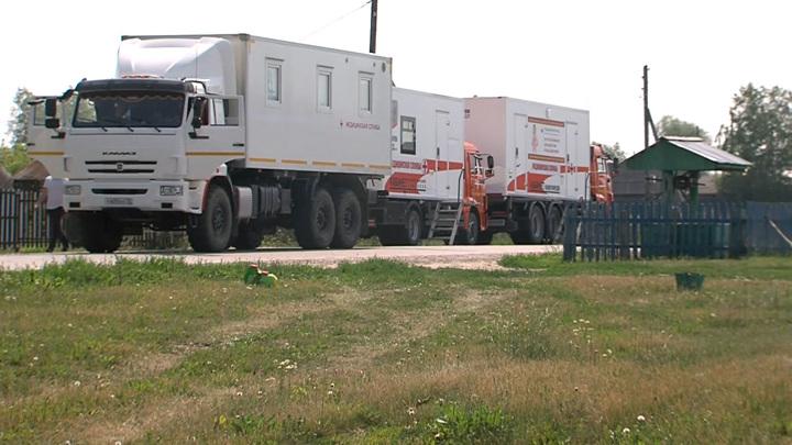 """""""Колеса помощи"""": в один из районов Тюменской области прибыл автопоезд здоровья"""